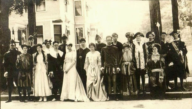Archival photo from Hubbard Hall's 1916 production of As You Like It.